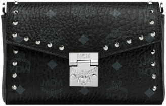 MCM Millie Flap Crossbody in Studded Outline Visetos