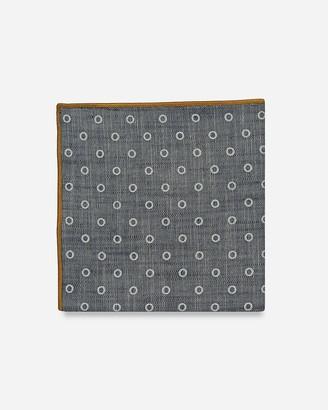 Express Pocket Square Clothing Hays Blue Polka Dot Pocket Square