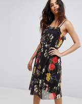 Boohoo Mesh Floral Strappy Dress