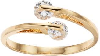 Lauren Conrad Simulated Crystal Midi Wrap Ring