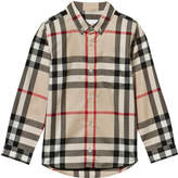 Burberry Beige New Classic Check Button Down Shirt
