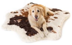 Paw Brands PupRug Brown Faux Cowhide Memory Foam Bed