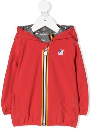 K Way Kids Hooded Zip-Up Jacket