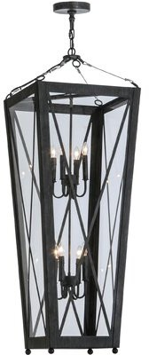8 - Light Lantern Geometric Chandelier Meyda Tiffany