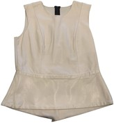 Mason by Michelle Mason White Leather Top for Women