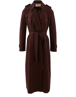 Harris Wharf London Long trench in wool felt