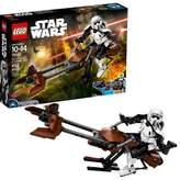 Lego ; Constraction Star Wars Scout Trooper & Speeder Bike 75532