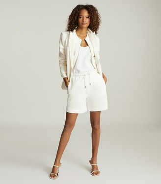 Reiss Annette - Jersey Shorts in White