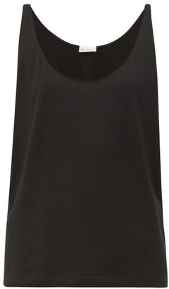 Raey Skinny Strap Cotton Jersey Vest - Womens - Black