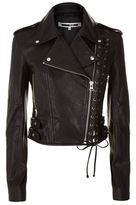McQ by Alexander McQueen Eyelet Leather Biker Jacket