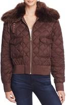 Lauren Ralph Lauren Faux Fur Collar Quilted Jacket
