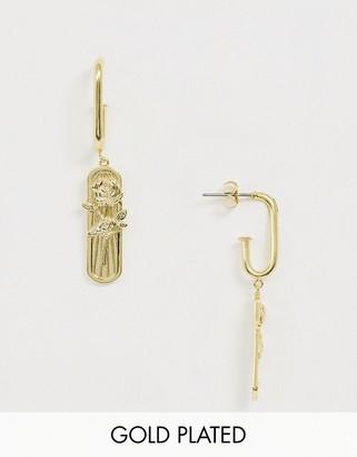 Wanderlust + Co Wanderlust & Co Rosa Gold Earrings