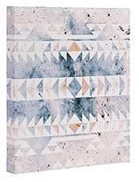 DENY Designs Caleb Troy Arctic Gold Tribal Canvas, 8 x 10