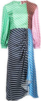 Tibi stripe panelled dress
