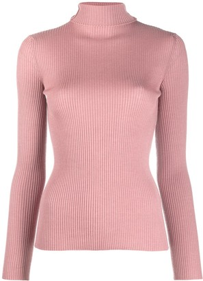 Roberto Collina Roll Neck Cable Knit Jumper