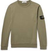 Stone Island Loopback Cotton-Jersey Sweatshirt