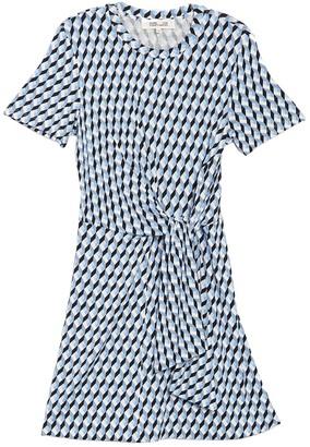 Diane von Furstenberg Theresa Geometric Print Side Wrap Dress