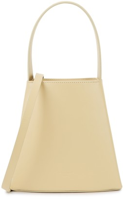 Low Classic Curve Mini Cream Leather Top Handle Bag