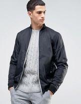 Solid Bomber Jacket In Black