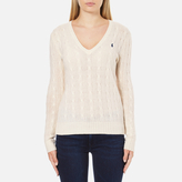 Polo Ralph Lauren Women's Kimberley Cashmere Blend Jumper Cream