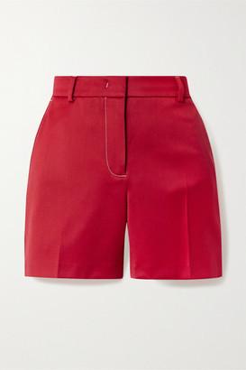 Sies Marjan Sienna Wool-twill Shorts - Red