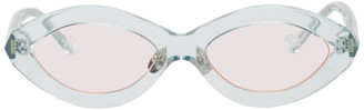 Grey Ant Blue Zoom Oval Sunglasses