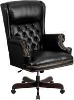 Flash Furniture CI-J600-BK-GG High Back Traditional Tufted Leather Ebyecutive Office Chair