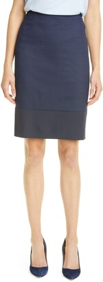 HUGO BOSS Vibena Stretch Wool Pencil Skirt