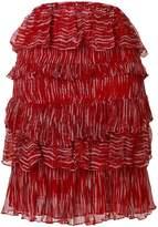 IRO Canwood printed tiered skirt