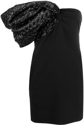 Saint Laurent One Shoulder Cocktail Dress