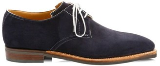 Corthay Sergio Pullman Suede Lace-Up Derby Shoes