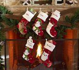 Pottery Barn Kids Woodland Velvet Stockings