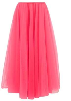 Raey Elasticated Waist Tulle Maxi Skirt - Womens - Pink