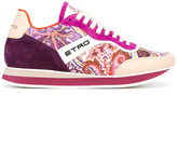 Etro multiple prints lace-up sneakers - women - Leather/Polyamide/rubber - 35