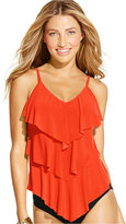 Magicsuit Tiered-Ruffle Tankini Top