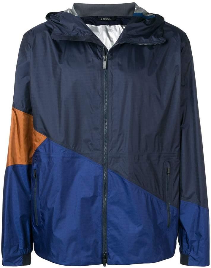 2b9cdf1cbc colour block hooded jacket