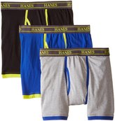 Hanes Men's 3-Pack Ultimate Stretch Boxer Briefs with Spun Cotton Wicks