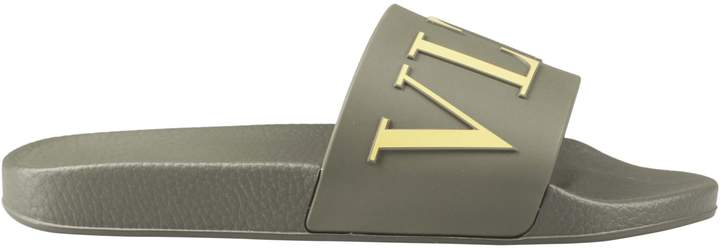 Valentino Logo Embossed Sliders