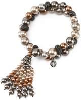 Anne Klein Faux-Pearl Double-Row Tassel Bracelet