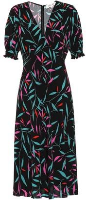 Diane von Furstenberg Idris printed crepe midi dress