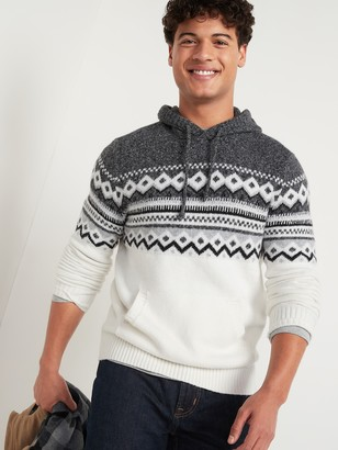 Old Navy Fair Isle Pullover Sweater Hoodie for Men