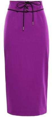 Emilio Pucci Lace-up Wool-blend Midi Pencil Skirt