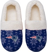 Unbranded Women's New England Patriots Ugly Knit Moccasin Slippers