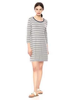 BB Dakota Womens Street Style Striped French Terry Dress