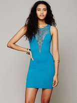 Free People Deep V Textured Bodycon