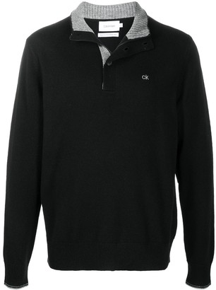 Calvin Klein Button-Down Knit Jumper