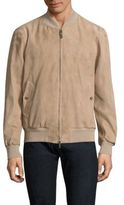 Luciano Barbera Leather Bomber Jacket