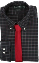 Lauren Ralph Lauren Poplin Checks Classic Pocket Dress Shirt