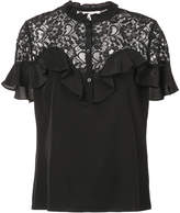 Rebecca Taylor lace panel blouse