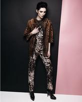 Lanvin Embellished Leopard-Print Shift Dress